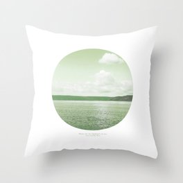 There Are No Sign Posts At Sea Throw Pillow
