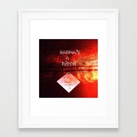 karma Framed Art Prints featuring Karma by Veronica Ventress