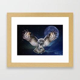 Owl in Flight Framed Art Print