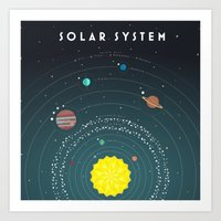 solar system Art Prints featuring Solar System by scarriebarrie