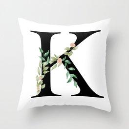 Botanical K Throw Pillow