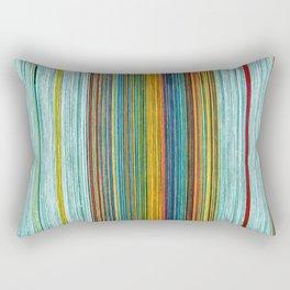 Pastel Threads Rectangular Pillow
