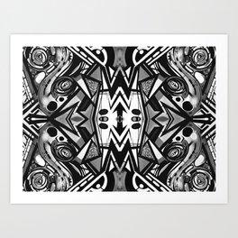 "Future funk Pattern ""symeric"" Art Print"