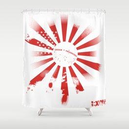 3 Flag Blend Shower Curtain