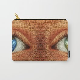 '2020, A Pair of Two Green Eyes' by Jeanpaul Ferro Carry-All Pouch