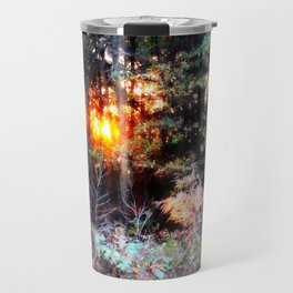 Sunset Forest : Where The Fairies Dwell Travel Mug