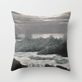 Early Morning After a Storm at Sea Throw Pillow