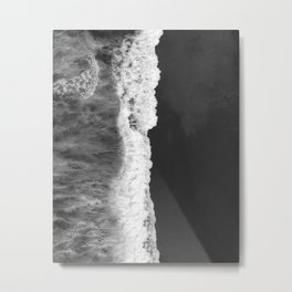 The Sea (Black and White) Metal Print