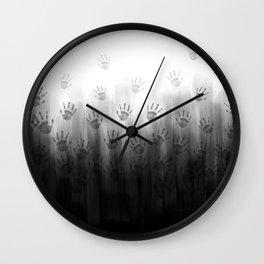 Terror Black Hands Wall Clock