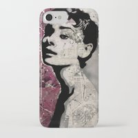 audrey iPhone & iPod Cases featuring Audrey by f_e_l_i_x_x