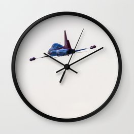 Turkish military acrobatic airplane in backlight Wall Clock