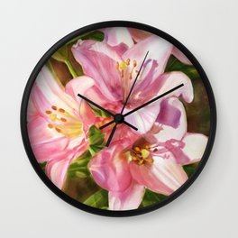 Birthday Flowers Wall Clock