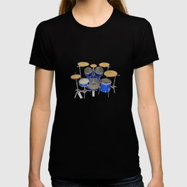 Blue Drum Kit T-shirt
