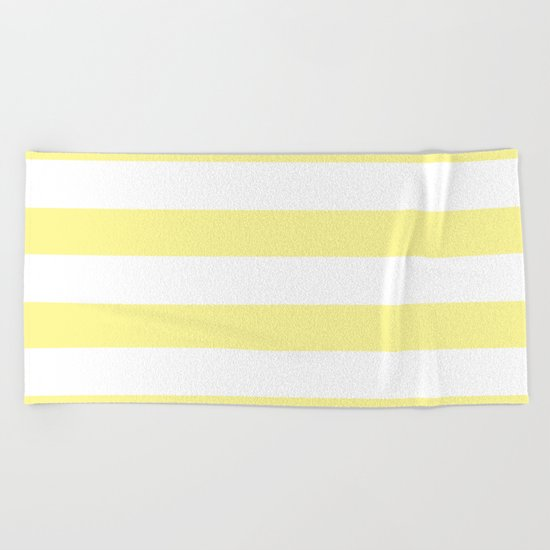 Simply Stripes in Pastel Yellow Beach Towel