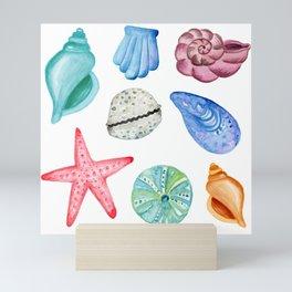 Seashells Watercolor Mini Art Print