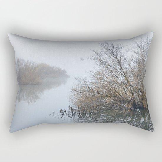 Magic Foggy Morning At The Lake Rectangular Pillow