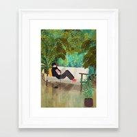 jungle Framed Art Prints featuring jungle by Lara Paulussen