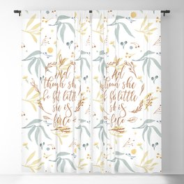And though she be but little she is fierce. (MWLP1) Watercolor flowers background. Blackout Curtain