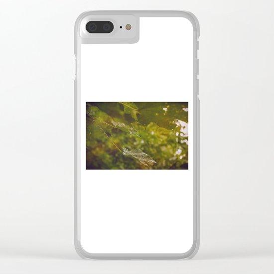 Rainy autumn leaves Clear iPhone Case