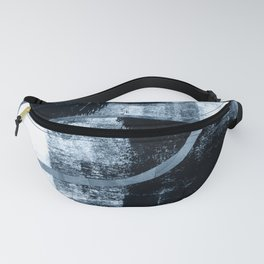 Mid Century Modern Abstract Cocoons in Blue Fanny Pack
