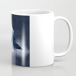 Crow Mystic River - I - dark background Coffee Mug