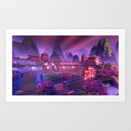 Rocket League Gamer E-Sports Competitive Gaming Art Print