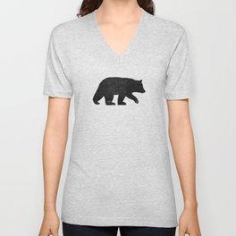 Black Bear Silhouette Unisex V-Neck