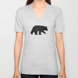 Black Bear Silhouette Unisex V-Neck