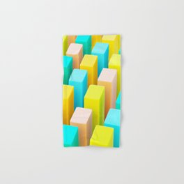 Color Blocking Pastels Hand & Bath Towel