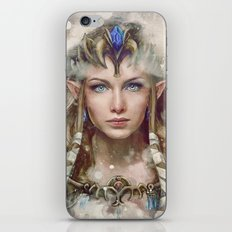 Epic Princess Zelda from Legend of Zelda Painting iPhone & iPod Skin