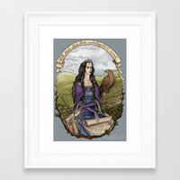 ravenclaw Framed Art Prints featuring Rowena Ravenclaw by Natasa Ilincic