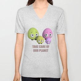 Take care of our planet Unisex V-Neck