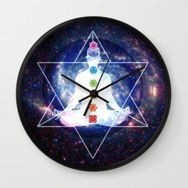 Merkaba Lightbody Chakra Meditation Wall Clock