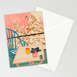 EVENING ON A TERRACE Stationery Cards