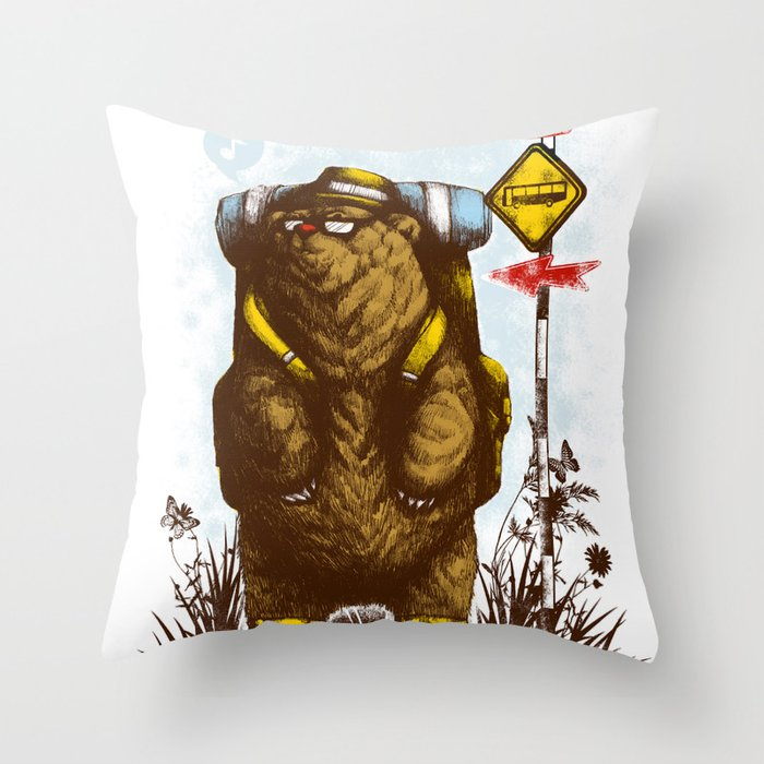 travelling 3.0 Throw Pillow