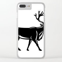 Caribou Walking Side Retro Clear iPhone Case