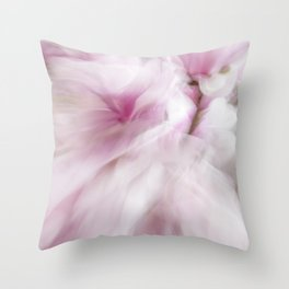 Pink Magnolia Swirl Throw Pillow