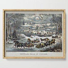 Central Park in Winter Currier & Ives Serving Tray