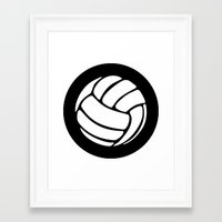 volleyball Framed Art Prints featuring Volleyball Ideology by ideology