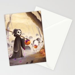 Meeting death Stationery Cards