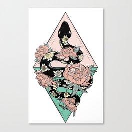 Rose Snake Canvas Print