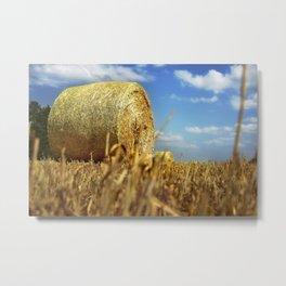 Big Straw Bales Landscape Metal Print