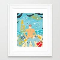 murray Framed Art Prints featuring Thrill Murray by Nicholas Stevenson