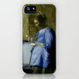 Vermeer, woman reading a letter,Mujer leyendo una carta,Brieflezende vrouw, iPhone Case