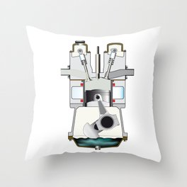 Diesel Induction Stroke Throw Pillow