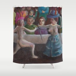 Women fencing for rights Shower Curtain