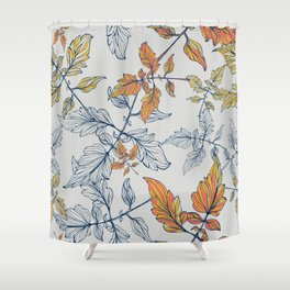 Tomatoes leave in Pantone 2019-2020 Shower Curtain