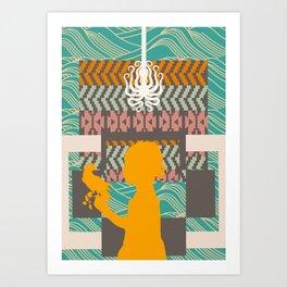 Fall into shape Art Print