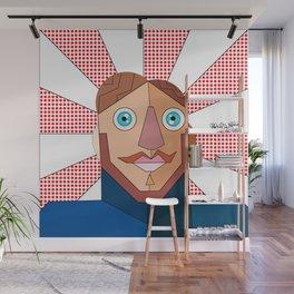 Artist Self Portrait Gabriel J Galvan  Wall Mural