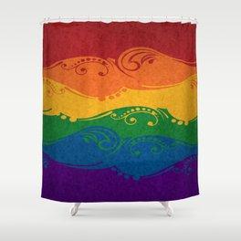 Ornamental Rainbow Flag Shower Curtain
